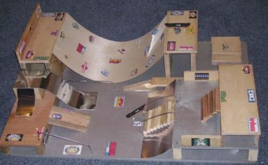 Building a Tech Deck Skate Park